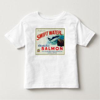 Astoria, Oregon - Thompson's Swift Water Salmon Toddler T-Shirt