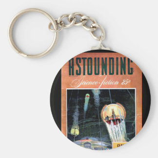 Astounding Science Fiction_ March 1943_Pulp Art Basic Round Button Key Ring
