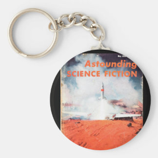 Astounding Science Fiction_ May 1955_Pulp Art Basic Round Button Key Ring