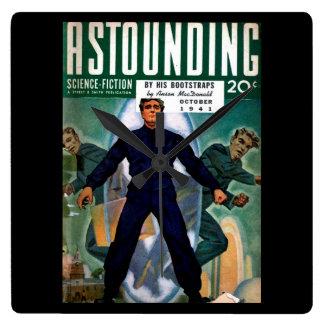 Astounding Science Fiction_ October 1941_Pulp Art Wall Clock