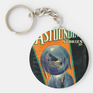 Astounding Stories - Mar 1936a_pulp Art Basic Round Button Key Ring