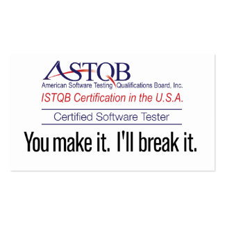 ASTQB Certified Software Tester You make it card Pack Of Standard Business Cards