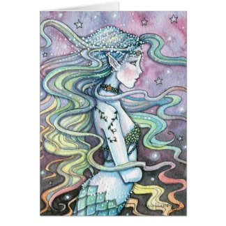 Astra Celestial Mermaid Art Card Notecard