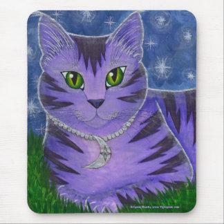 Astra Celestial Moon Star Cat Fantasy Art Mousepad