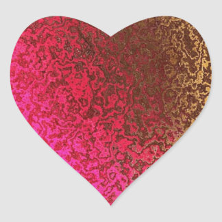 Astract Grunge Art Heart Sticker