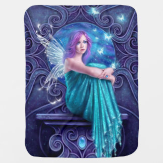 Astraea Fairy with Butterflies Baby Blanket