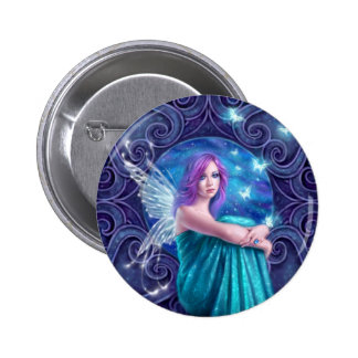 Astraea Fairy with Butterflies Button Badge