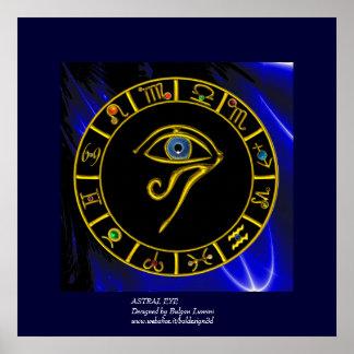 ASTRAL EYE / BLUE TALISMAN POSTER