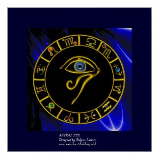 ASTRAL EYE BLUE TALISMAN POSTERS