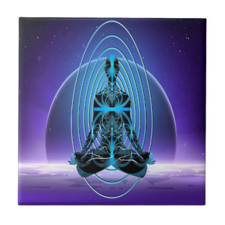 Astral Travel Small Square Tile