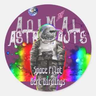 Astro Bird Round Sticker