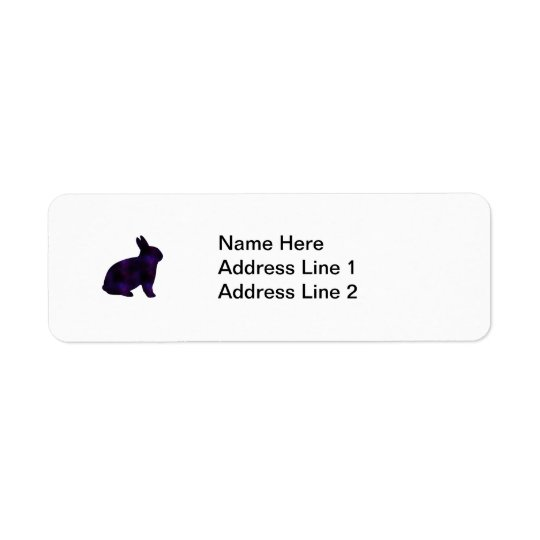 Astro Bunny Return Address Label
