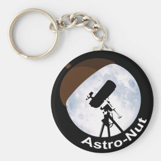 Astro-Nut Basic Round Button Key Ring