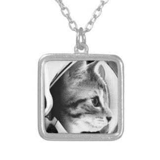 ASTROCAT (3) SILVER PLATED NECKLACE