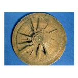 Astrolabe for calculating horoscopes, European Postcard