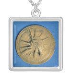 Astrolabe for calculating horoscopes, European Square Pendant Necklace