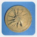 Astrolabe for calculating horoscopes, European Square Sticker