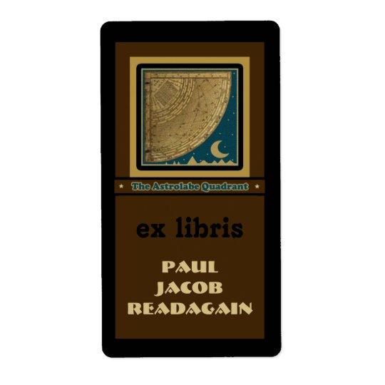 Astrolabe Quadrant  bookplate Shipping Label