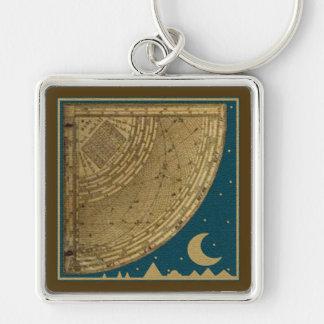 Astrolabe Quadrant  keychain