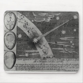 Astrological diagram of the comet mouse mat