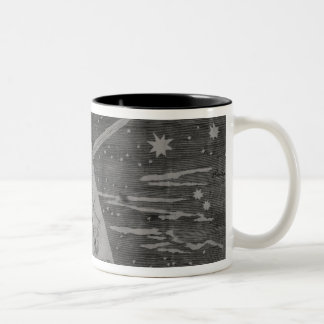 Astrological diagram of the comet Two-Tone coffee mug