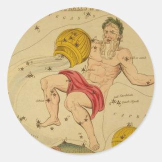 astrological_sign_aquarius round sticker