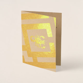 Astrological Sign Scorpio Foil Decor Custom Text Foil Card