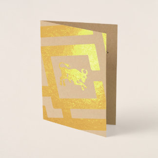 Astrological Sign Taurus Foil Decor Custom Text Foil Card