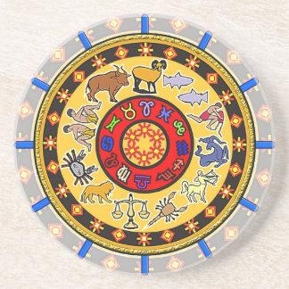 Astrological Star Clock/ Mandala Coasters