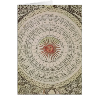 Astrological table of the Sun Card