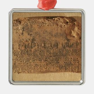 Astrological tablet, from Uruk Christmas Ornament