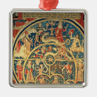 Astrological tapestry Silver-Colored square decoration