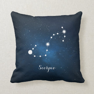 Astrology Blue Nebula Scorpio Zodiac Sign Cushion