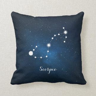 Astrology Blue Nebula Scorpio Zodiac Sign Cushions