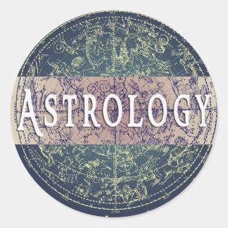 Astrology Genre Round Book Cover Sticker