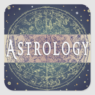 Astrology Genre Square Book Cover Sticker