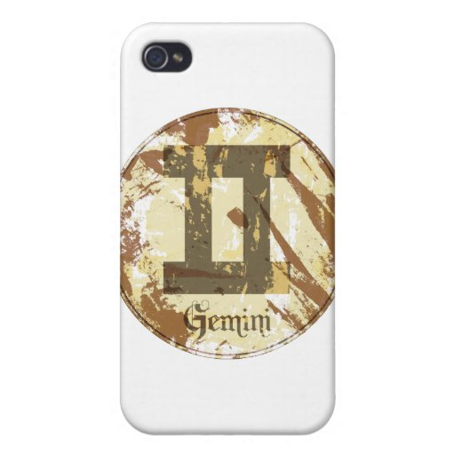 Astrology Grunge Gemini iPhone 4 Cover