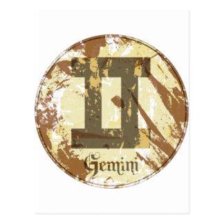 Astrology Grunge Gemini Postcard