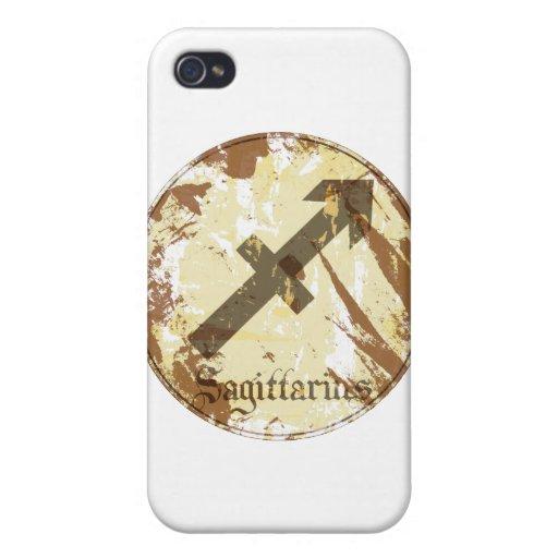 Astrology Grunge Sagittarius iPhone 4 Cases