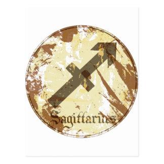 Astrology Grunge Sagittarius Postcard
