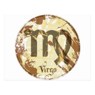 Astrology Grunge Virgo Post Cards
