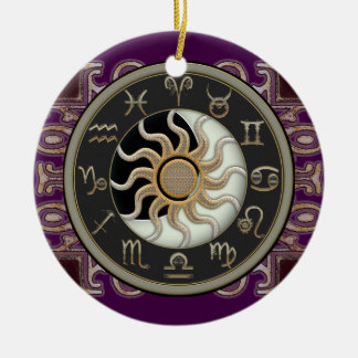 Astrology Sun and Moon Personalized Christmas Ornament