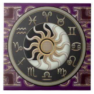 Astrology Sun and Moon Tile