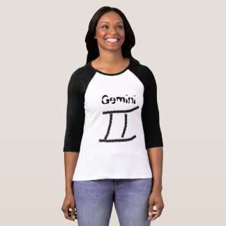 Astrology symbol for Gemini Twins Jersey T-Shirt