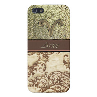 Astrology Vintage Damask Zodiac Aries Sun Sign iPhone 5/5S Cases