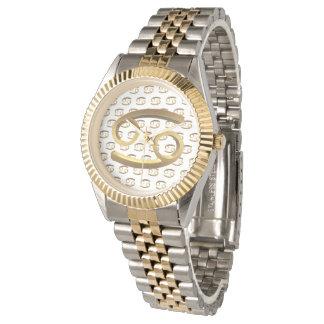 Astrology Zodiac Sign Cancer Gold Symbol Elegant Watch