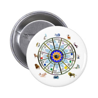 Astrology - ZODIAC-  Signs 6 Cm Round Badge