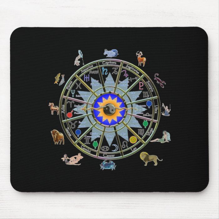 Astrology - ZODIAC-  Signs Mouse Pad