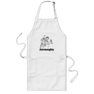ASTRONAUGHTY T-shirt Aprons