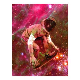 Astronaugt Skateborder Customised Letterhead